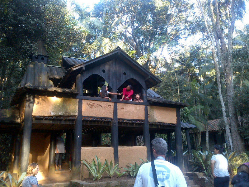 Diana no castelinho do jardim botânico