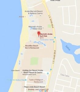 mapa do marriott surf club