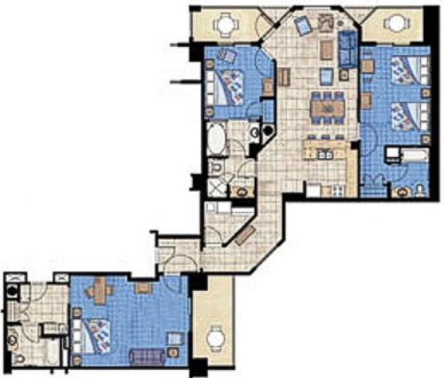 villa de 3 quartos