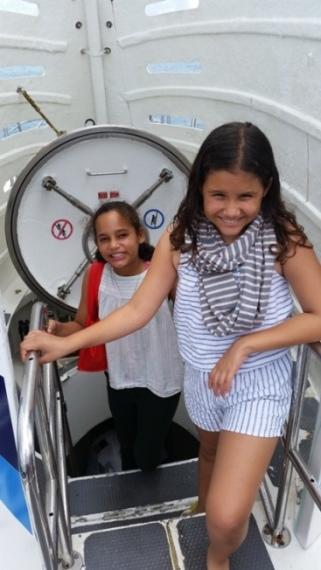 entrada para o submarino